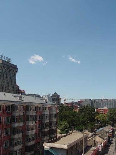 中国の青空って初めて見た!なんて・・・