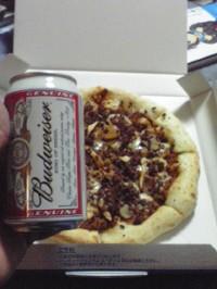 ピザとビア