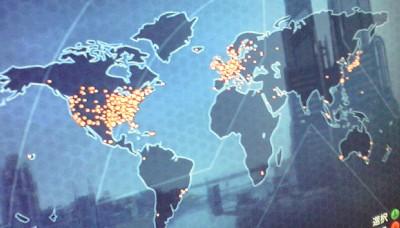 エージェント世界分布図