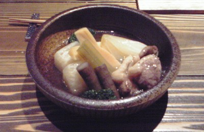鴨と野菜の炊合せ