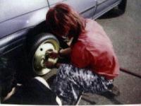 2002年9月20日おゆう号ゆめタイヤ修理