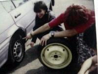 2002年9月20日おゆう号タイヤ修理