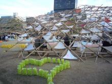 テントのオブジェ