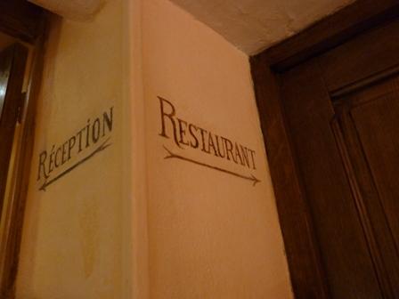 レストランは2階