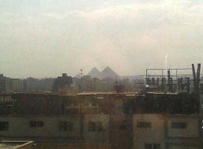 hotelからピラミッド