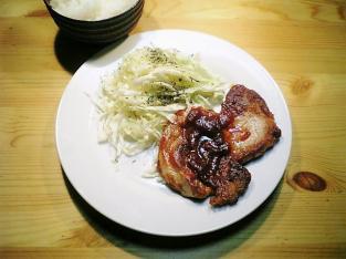 豚ロースのケチャップ炒め005