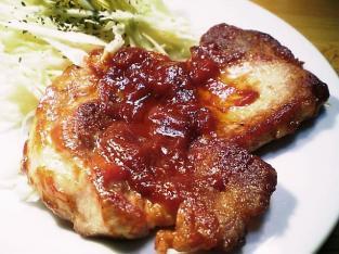 豚ロースのケチャップ炒め006