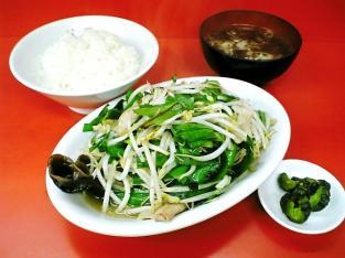 鶴廣、ニラ肉イタメと半ライス004