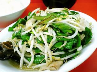 鶴廣、ニラ肉イタメと半ライス005