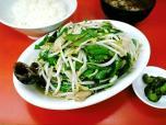 鶴廣、ニラ肉イタメと半ライス006