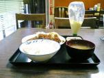 山田ホームレストラン、本日の定食Aポークカツ007