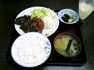 山田ホームレストラン、本日の定食Aチキンカツ002
