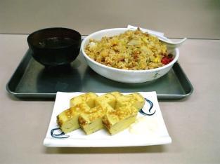 市場食堂キムチチャーハン、玉子焼き005