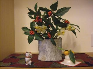 寅ならぬ猫(陶器の人形:御年50歳)