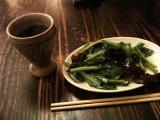 紹興酒&青菜炒め