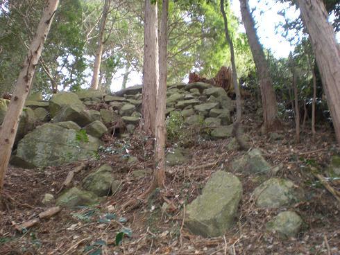 残された石垣を見つけたい 美濃...