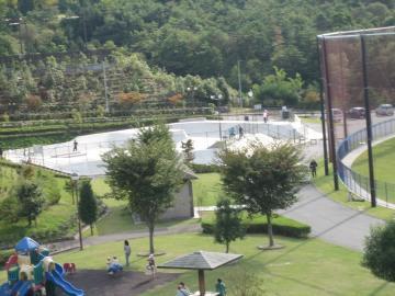 中津川公園スケートパーク全景