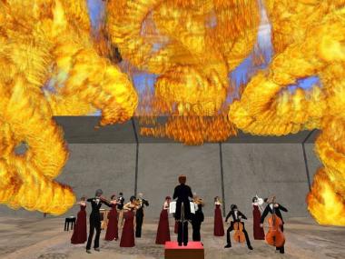 燃えるステージ