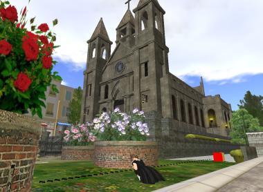 教会と少女