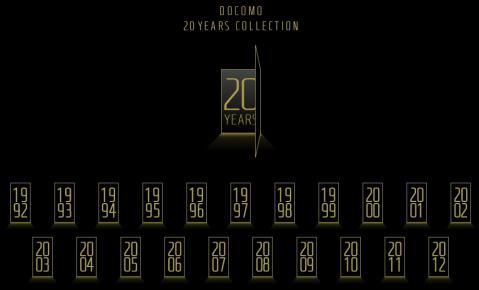 ドコモ20年のケータイの変遷…という年表