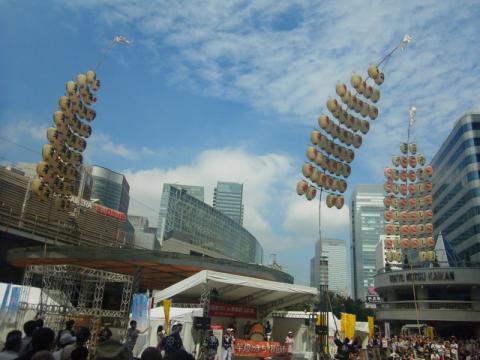 竿燈祭りを東京で