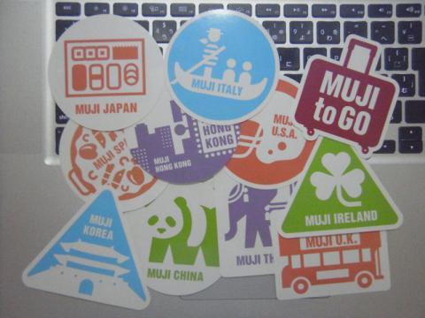 「MUJI to GO」ステッカーが11枚になりました!