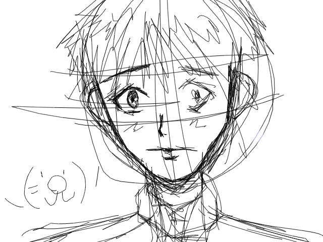 pixia 絵 まんが系の絵を描こうとしたけど途中でどうすればいいかわからなくなった