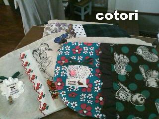 2012.2.28 cookey納品 巾着たち