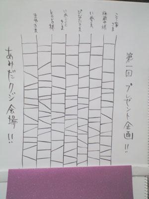 プレゼント会場~