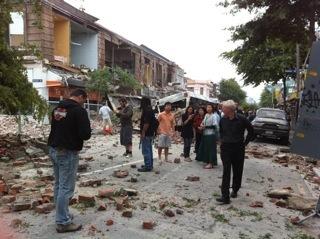 クライストチャーチ地震。