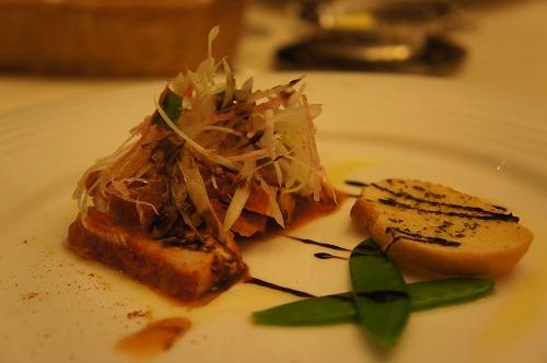 知床鶏の冷製サラダ仕立てカレー風味
