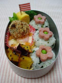 お花おむすびのお弁当