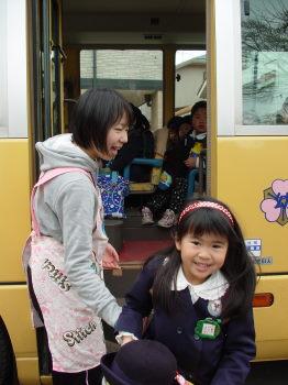 幼稚園最後のバス
