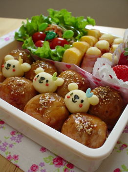 肉巻きおにぎりのお弁当2