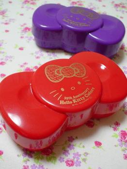 リボン型ランチボックス赤