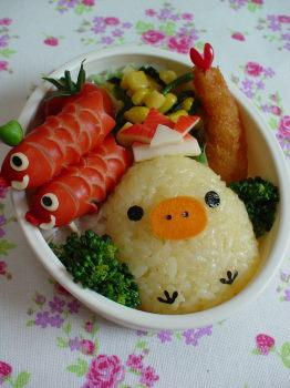 キイロイトリ 鯉のぼりのお弁当