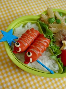 鯉のぼりのお弁当2