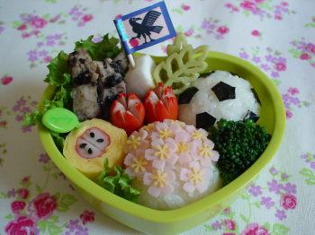 なでしこジャパンのお弁当2