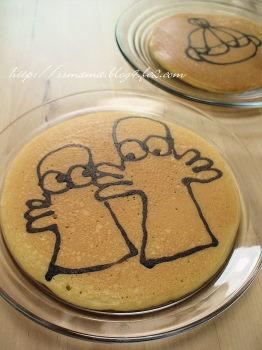 ニョロニョロのお絵かきパンケーキ