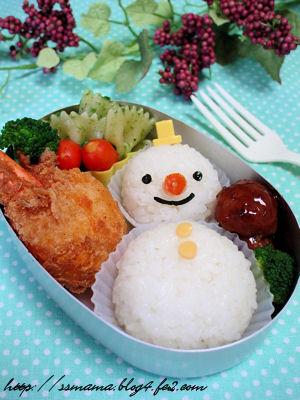 雪だるまのお弁当