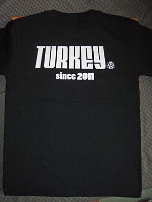 神奈川県秦野市「TURKEY」スタッフTシャツ 背面
