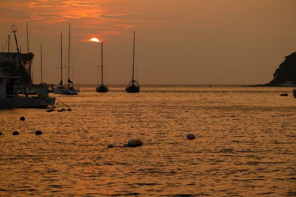 油壺の夕日