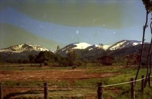 月山の残雪