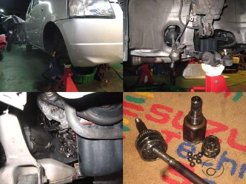suzuki スズキ ワゴンR ドライブシャフト オーバーホールとブーツ交換