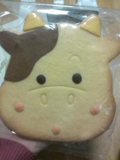 でかい牛のクッキー