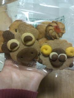 牛と羊のクッキー