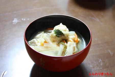 とりひき肉団子とお野菜いっぱいスープ