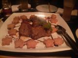 【肉】牛ロース肉のカダイフコトレッタ ローストオニオンのグレイビーソース 業火に焼かれて