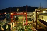 金谷港出発直前の東京湾フェリー甲板から