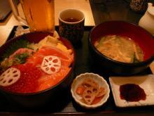 海鮮親子丼+生ビール